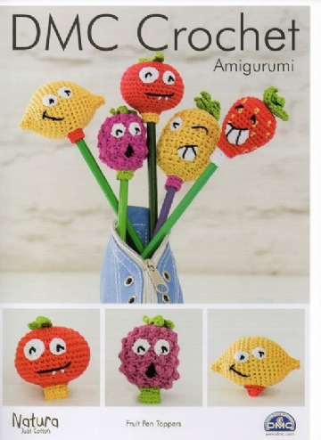 DMC Crochet Pattern 'FRUIT PEN TOPPERS'